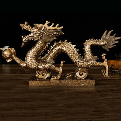 Dragon Figurine Chinese Feng Shui Statue For-Luck For Success Exhibition