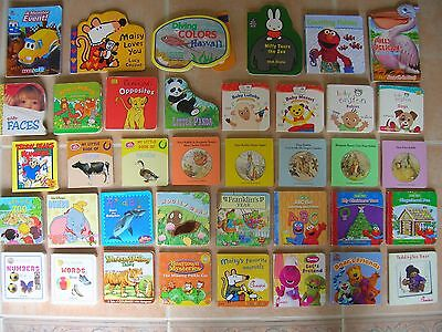 38 small BOARD picture Book Lot Baby Toddler Sesame Street Baby Einstein Daycare