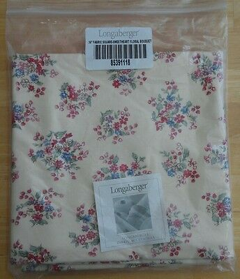 """Longaberger Sweetheart Floral Bouquet 36"""" Square Fabric Table Overlay Tablecloth"""