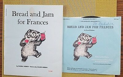 Vintage BREAD AND JAM For FRANCES By Russell Hoban Scholastic Book & Record