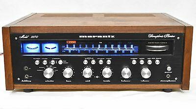 Vintage Marantz 2270 Prof. serviced, wooden case, new blackface plate with LED