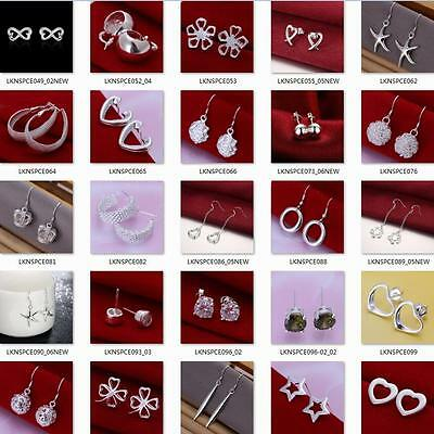 New fashion 925Silver earring jewelry birthday present,Free postage