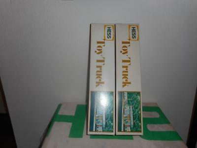 1977 & 1978 (Two) Collector Quality Mint Hess Trucks With  Working Lights