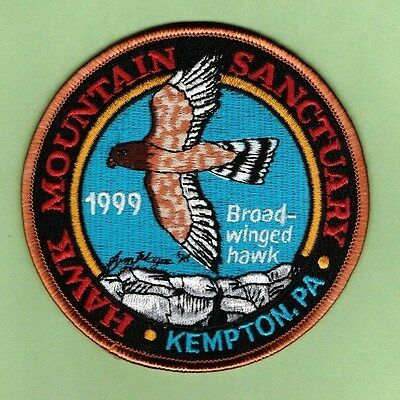 NEW Pa Pennsylvania Game Commission related 1999 Hawk Mountain Sanctuary patch