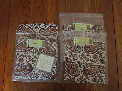 Longaberger Lot Fabric Set of 4 Chelsea Paisley Napkins NEW