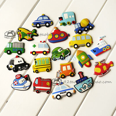 Fridge Magnet Rubber Cartoon Vehicle Plane Novelty Fun Colourful for Children