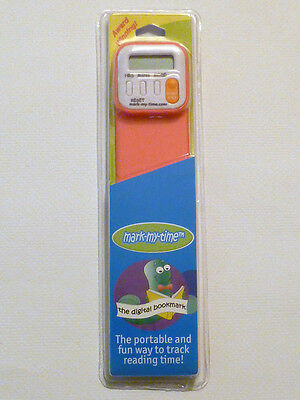 """Bookmark & Digital Timer """"Mark-My-Time"""" Bright Fuschia NEW in Package Ships FREE"""