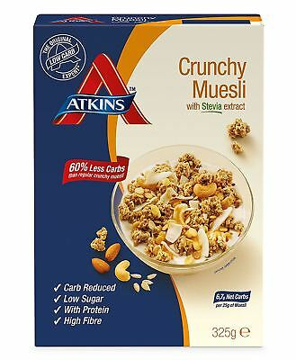 Atkins Crunchy, Low Carb, High Fibre Muesli Cereal 325g