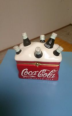2002 Coca Cola Ceramic Cooler Hinged Box