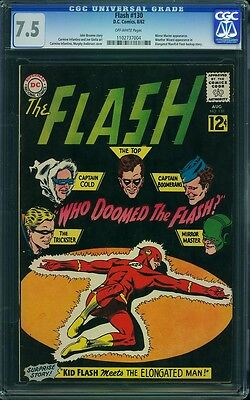 Flash #130 CGC 7.5; OW pages; Mirror Master appear. Weather Wizard appear.