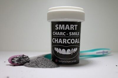 Charcoal Teeth Whitening Powder (MINT) SMARTCHARCSMILE Natural Organic Pack 4