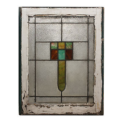 Antique American Arts & Crafts Stained Glass Window, NSG159