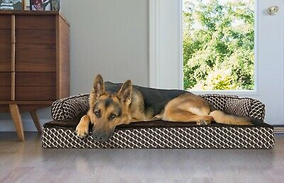 FurHaven Pet Plush & Décor Comfy Couch Sofa-Style Dog Bed