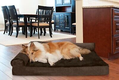 FurHaven Pet Plush & Velvet Deluxe Chaise Lounge Sofa-Style Dog Bed
