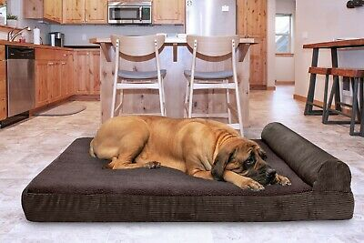 FurHaven Pet Faux Fleece & Corduroy Chaise Lounge Sofa Dog Bed