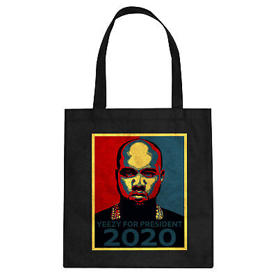 Tote Yeezy for President 2020 Cotton Canvas Tote Bag #1173