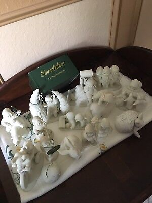VINTAGE DEPT 56 SNOWBABIES Lot of 13 Figurines Collectible. Free Shipping