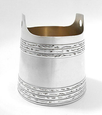 Novelty Solid Silver Sugar Bowl in the Shape of a Water Pail