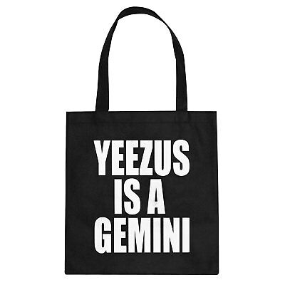 Tote Yeezus is a Gemini Cotton Canvas Tote Bag #1100