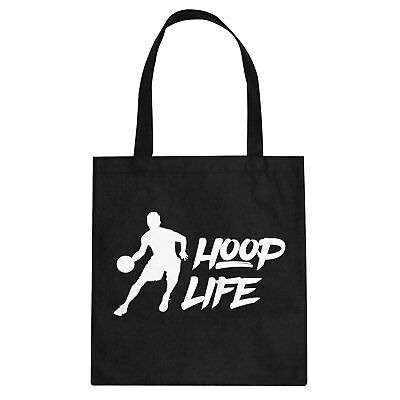 Tote Hoop Life Cotton Canvas Tote Bag #3280