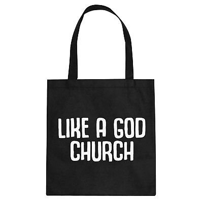 Tote Like a God Church Cotton Canvas Tote Bag #3367