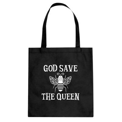 God Save the Queen Cotton Canvas Tote Bag #3351