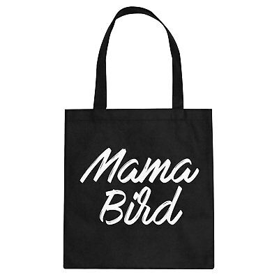Tote Mama Bird Cotton Canvas Tote Bag #3372
