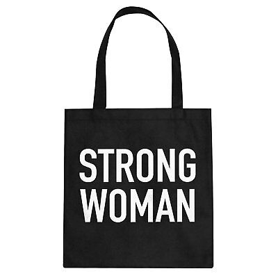 Tote Strong Woman Cotton Canvas Tote Bag #3242