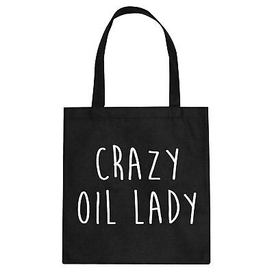 Tote Crazy Oil Lady Cotton Canvas Tote Bag #3333