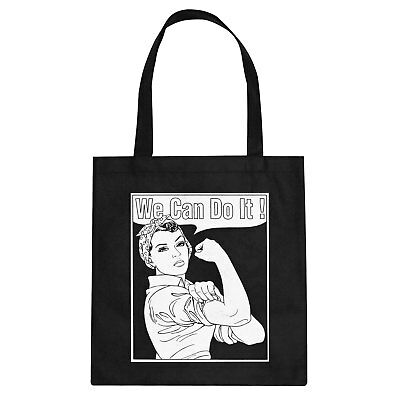Tote Rosie the Riveter Cotton Canvas Tote Bag #3360