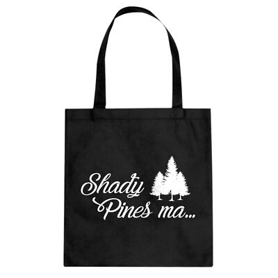Tote Shady Pines Ma Canvas Shopping Bag #3357
