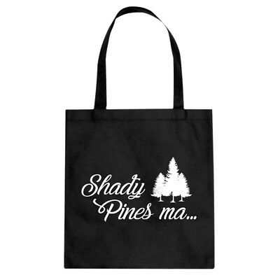 Tote Shady Pines Ma Cotton Canvas Tote Bag #3357