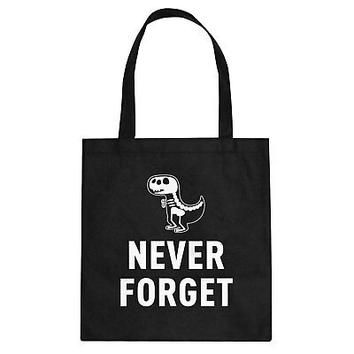 Tote Never Forget Cotton Canvas Tote Bag #3385