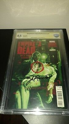 Empire Of The Dead 2014 Marvel Act Two #1 cbcs signed by the late George Romero