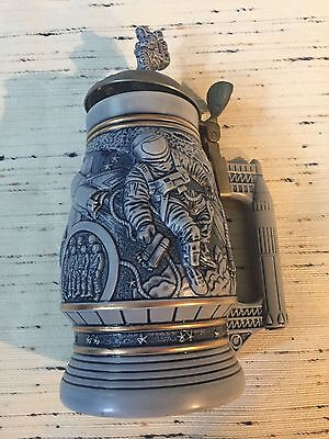 Avon Fine Collectibles Conquest of Space Ceramic Beer Stein Astronaut Space NASA