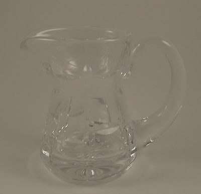 Vintage Crystal Cream Milk Pitcher very heavy glass for the size