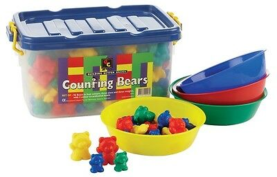 Counting Bears - Sorting Bears - Classroom Kit 96 Bears - 4 sorting Bowls