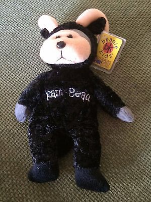 "Skansen Beanie Kids  "" RAM-BEAU the BLACK LAM Bear WILD EXCLUSIVE  """