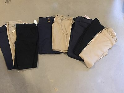 Size 12 school uniform pants SET OF 10