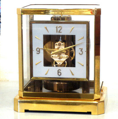 Service Awesome 1960 Jaeger Lecoultre 528 Atmos Clock#170Xxx Square Dial Working