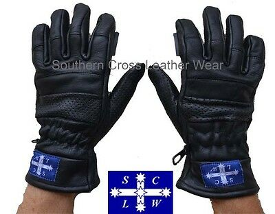 Pro-Tech 100% Leather Motorcycle Riders Gloves With Viper