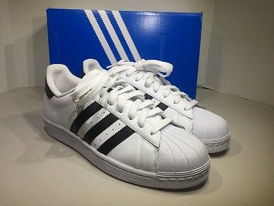 Adidas Superstar Men's Size 9.5 White Black Athletic Sneakers Shoes XJ-139
