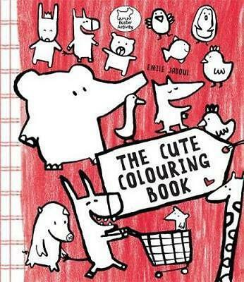NEW The Cute Colouring Book By Emile Jadoul Paperback Free Shipping