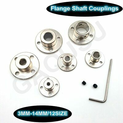 3-14mm Rigid Flange Coupling Motor Guide Shaft Coupler Motor Connector US
