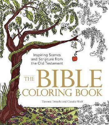 NEW The Bible Colouring Book By Claudia Wolf Paperback Free Shipping