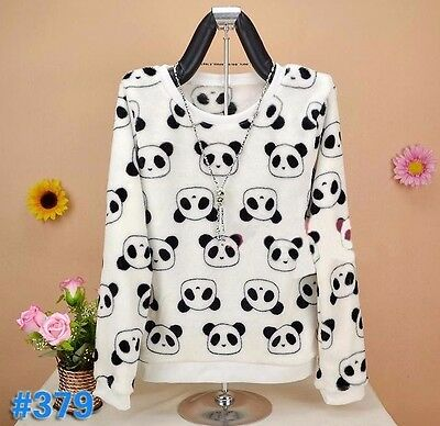 Cute Panda High Quality Pullover Winter Jumper Harajuku Kawaii / UK SELLER