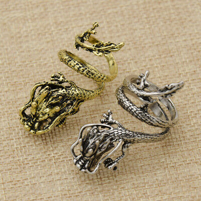 Chinese Dragon Ring For Men Ring Jewelry Adjustable Finger Ring Gothic Punk