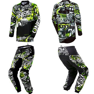 ONeal Element Attack motocross off-road dirtbike MX gear - Jersey Pants Combo