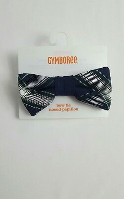 Gymboree Gym Navy & Green Plaid Bow Tie All Spruced Up Collection 2T 5T NWT