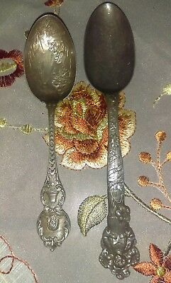 2 vintage sterling silver spoon